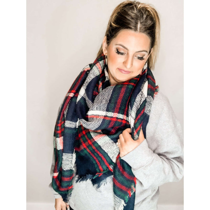 Christmas Blanket Scarf:The Rustic Buffalo Boutique