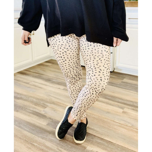 Dalmatian Print Fashion Leggings:The Rustic Buffalo Boutique