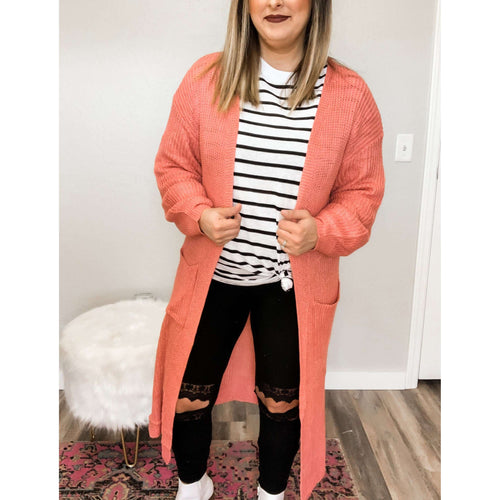 Dusty Pink Cardigan:The Rustic Buffalo Boutique