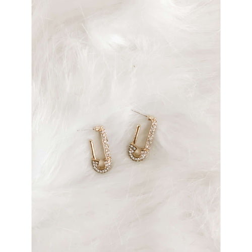 Gold Pin Earring:The Rustic Buffalo Boutique
