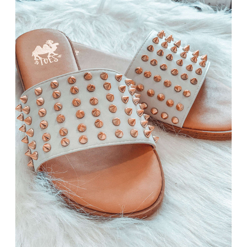 Gold Spike Spring Sandal:The Rustic Buffalo Boutique