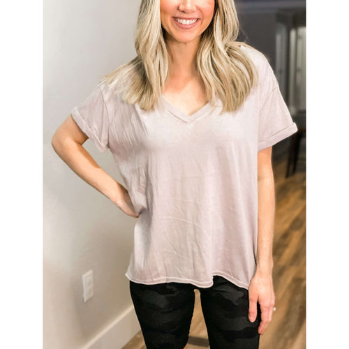 Grey Vintage Tee:The Rustic Buffalo Boutique