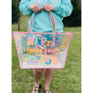 Happy Looks Good On You Iridescent Tote