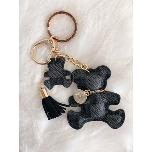 Lacey Bear Keychain Black:The Rustic Buffalo Boutique