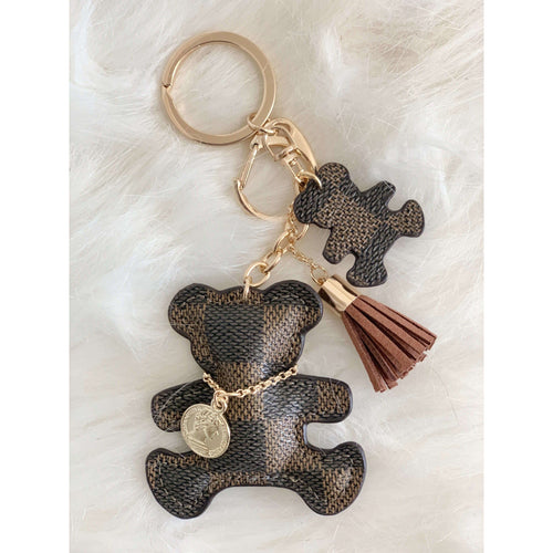 Lacey Bear Keychain Brown:The Rustic Buffalo Boutique