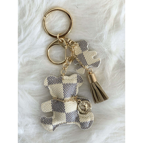 Lacey Bear Keychain Cream:The Rustic Buffalo Boutique