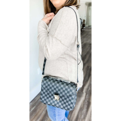 Lacey Satchel Crossbody-Black:The Rustic Buffalo Boutique