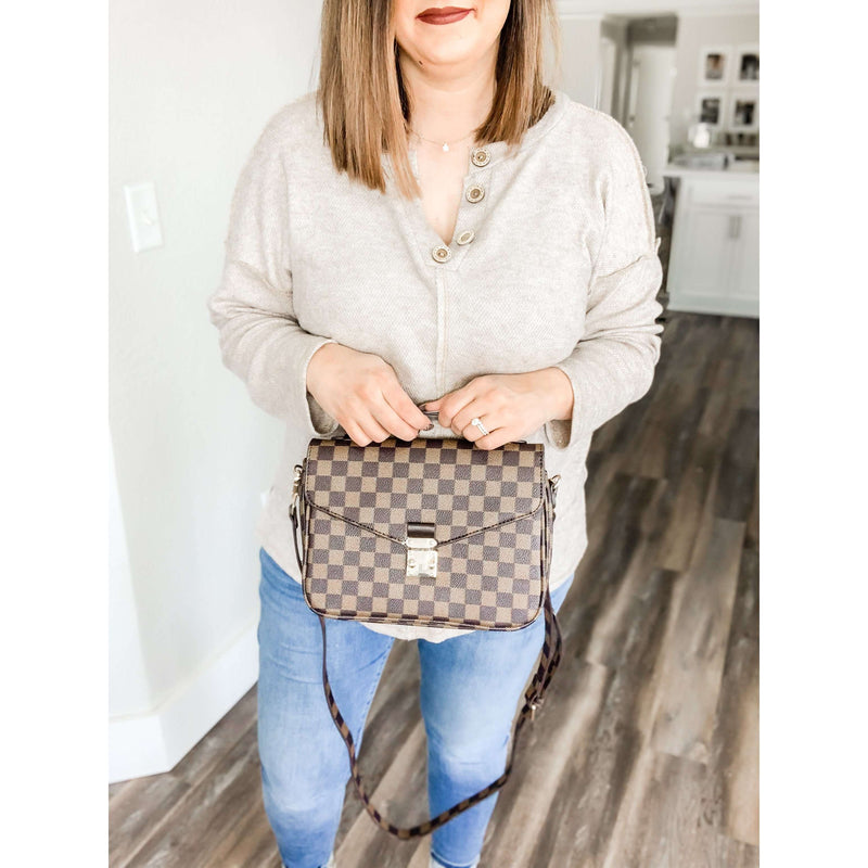 Lacey Satchel Crossbody-Brown:The Rustic Buffalo Boutique