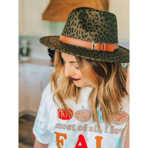 Leopard Felt Hat:The Rustic Buffalo Boutique