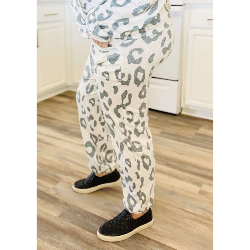 Leopard Print Joggers:The Rustic Buffalo Boutique