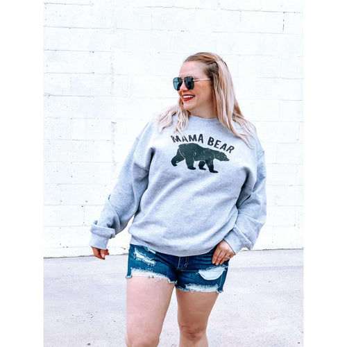 Mama Bear Pullover:The Rustic Buffalo Boutique