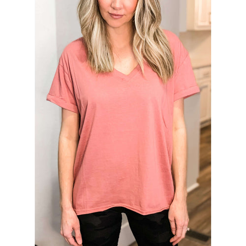 Marsala Vintage Tee:The Rustic Buffalo Boutique