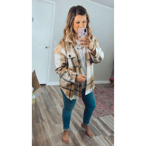Plaid Shacket:The Rustic Buffalo Boutique