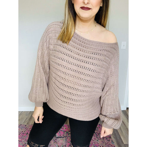Plum Sweater:The Rustic Buffalo Boutique