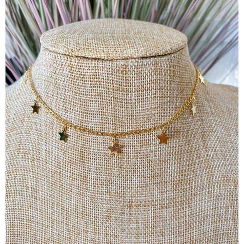 Star Choker Necklace:The Rustic Buffalo Boutique