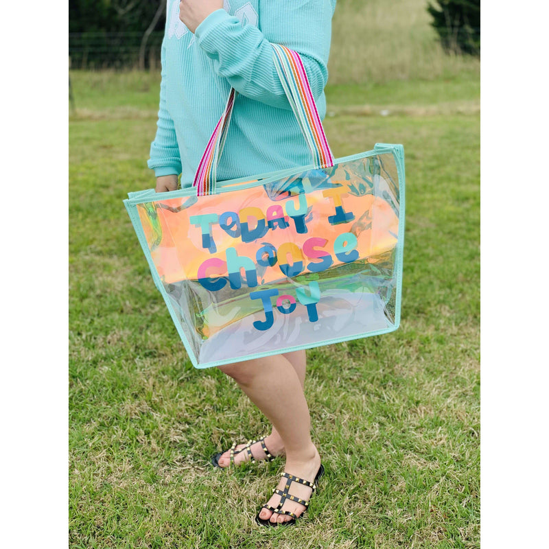 Today I Choose Joy Iridescent Tote:The Rustic Buffalo Boutique