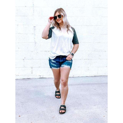 Triblend Color Block Tee:The Rustic Buffalo Boutique
