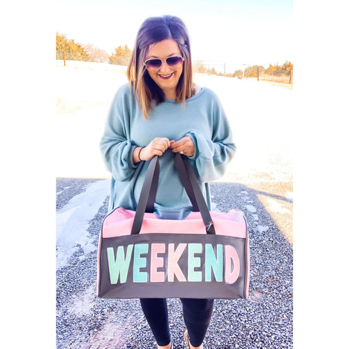 Weekend Duffle Bag:The Rustic Buffalo Boutique