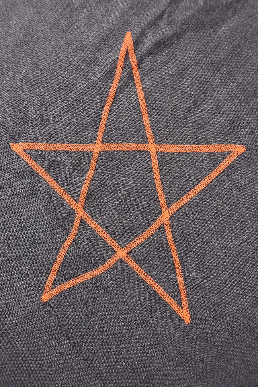 Navy Scarf With Orange Star