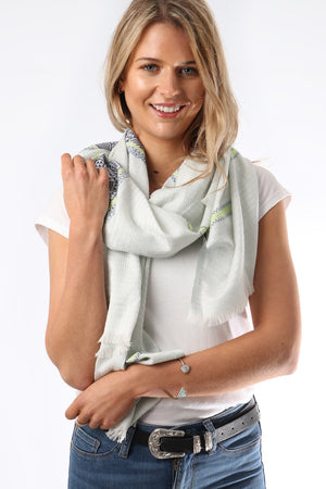 Aztec Band Scarf - Blue