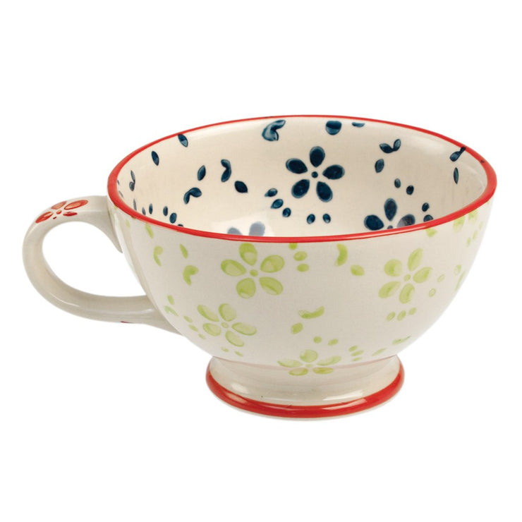 Stoneware Coffee Cup Daisy
