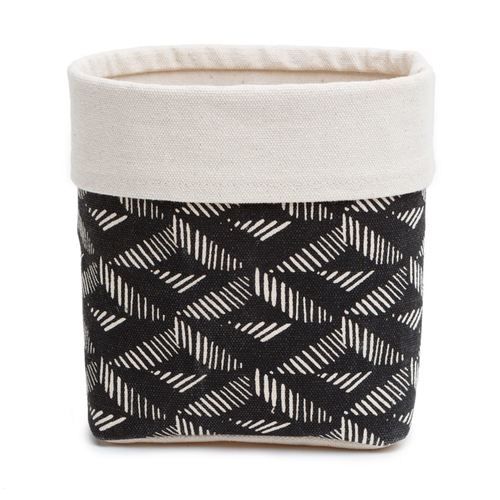 Black Aztec Fabric Basket