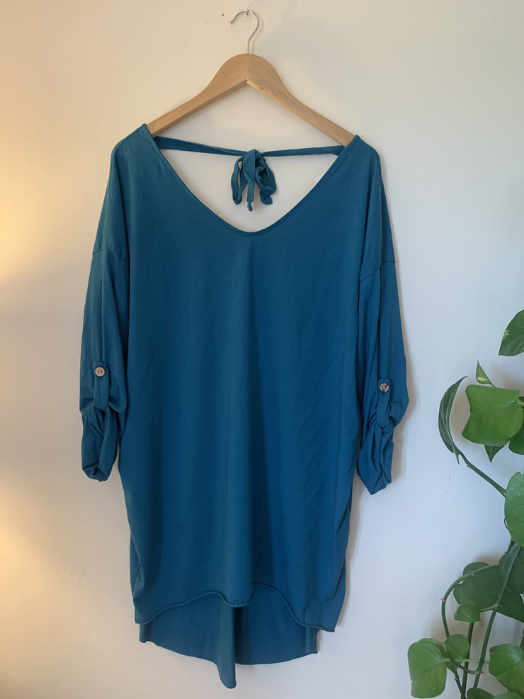 Tie Back Tunic Top
