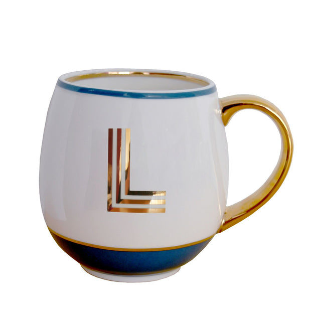 Alphabet Mugs - Gold Letters