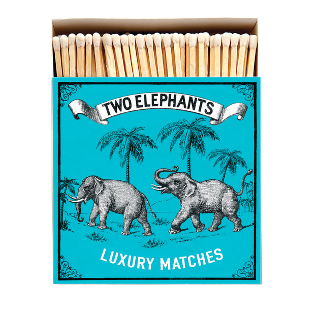 Square Matchbox - Two Elephants