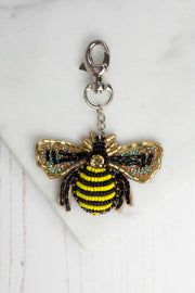 Beaded Bee Keyring