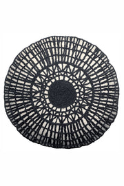 Vivaraise Black Round Noa Cushion