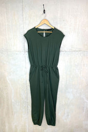 Ladies Eighties Style Sleeveless Jumpsuit