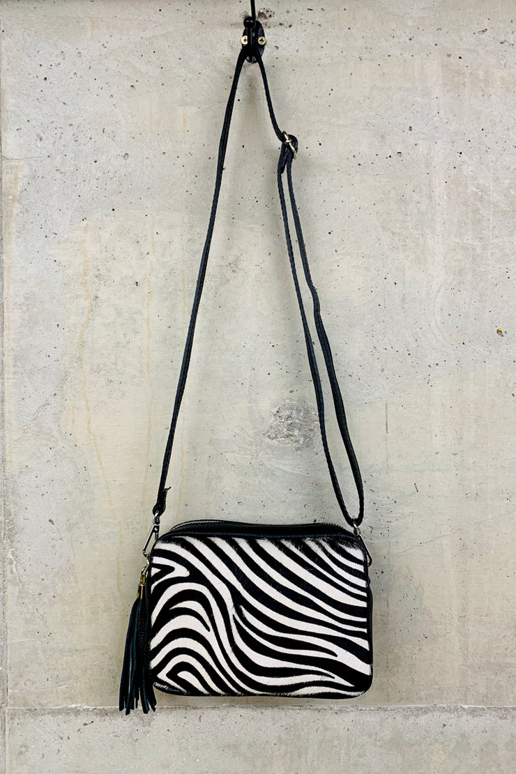 Zebra Box Bag Leather