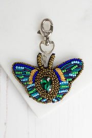 Beaded Butterfly Keyring