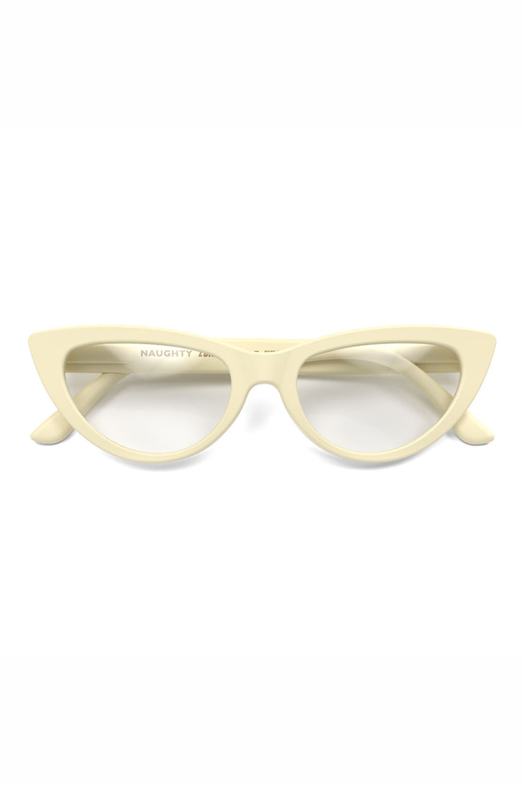 London Mole Naughty Reading Glasses in Cream