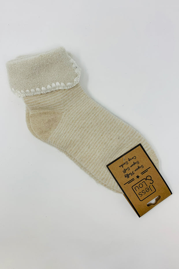 Cream Stripe Socks