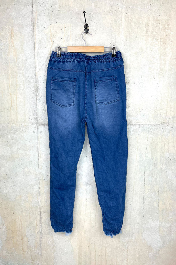 Vienna Denim Distressed Jean Joggers