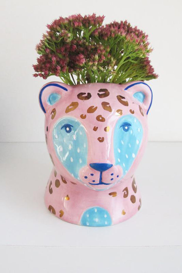Savannah Leopard Pot