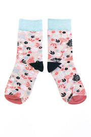 Disaster Designs Pink Floral Socks