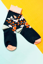Eden Navy Floral Socks