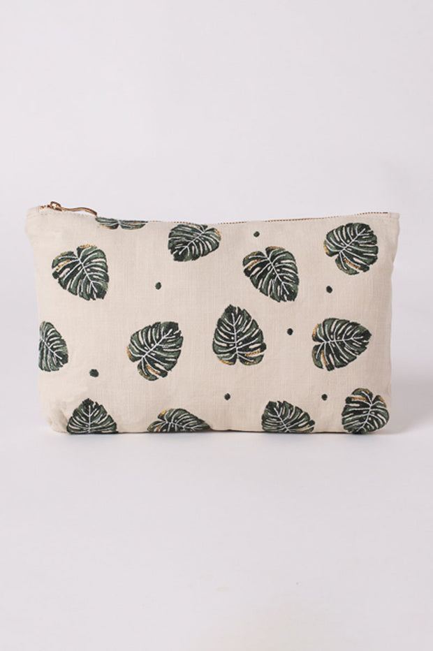 Elizabeth Scarlett Jungle Leaf Travel Pouch
