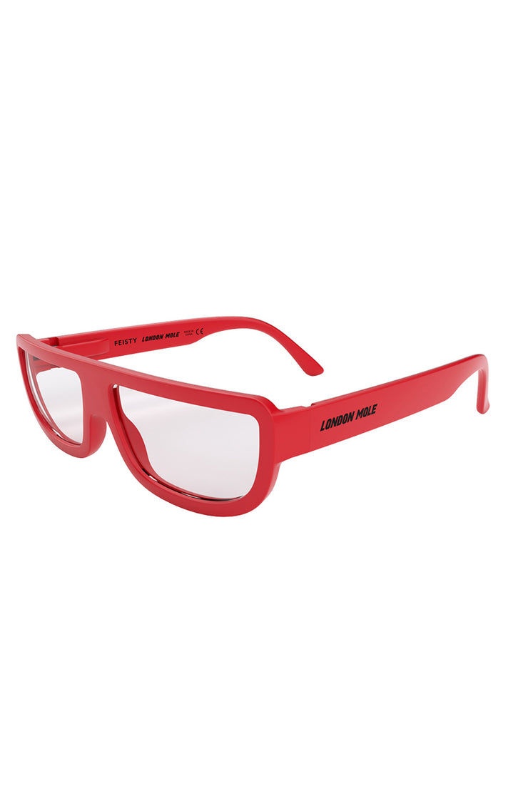 London Mole Feisty Reading Glasses in Red