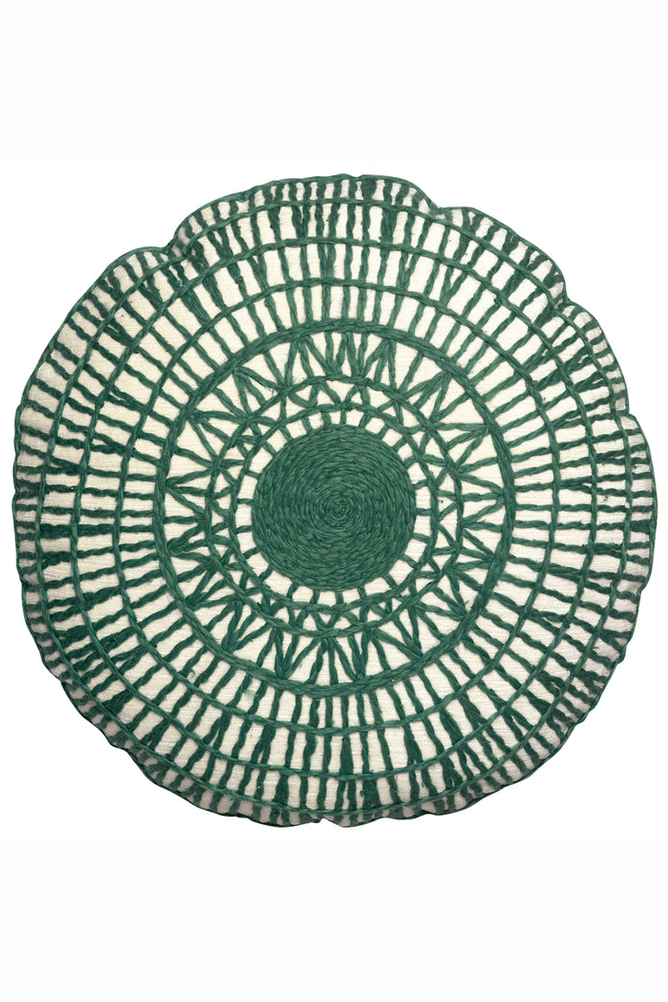 Vivaraise Green Round Cushion