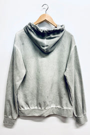Grey Washed Hooded Top