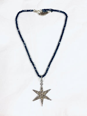 Short Crystal Star Necklace