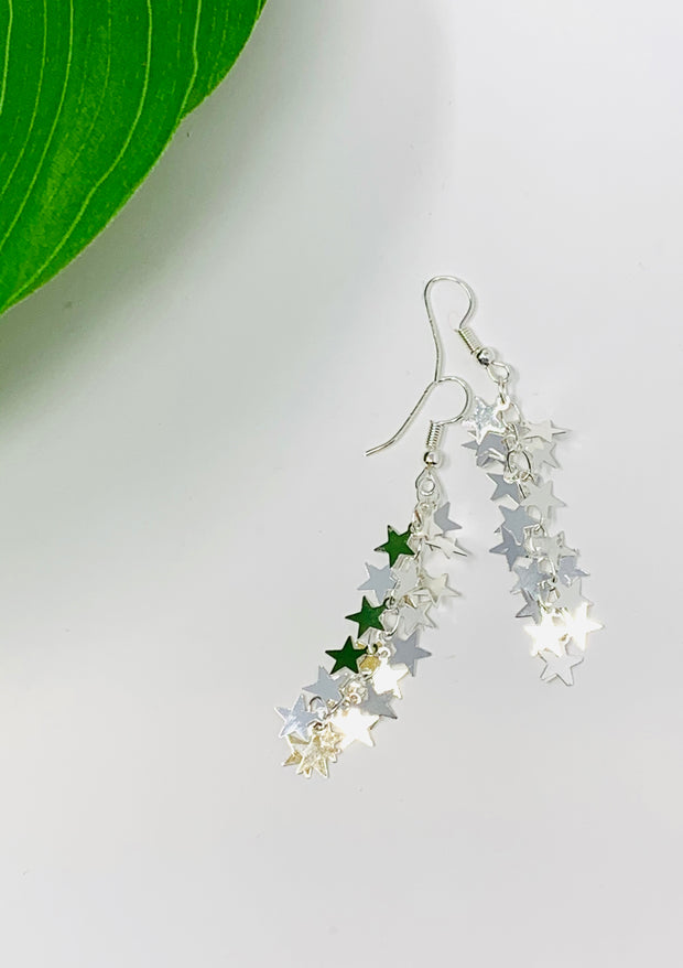 Star Tassel Drop Earring