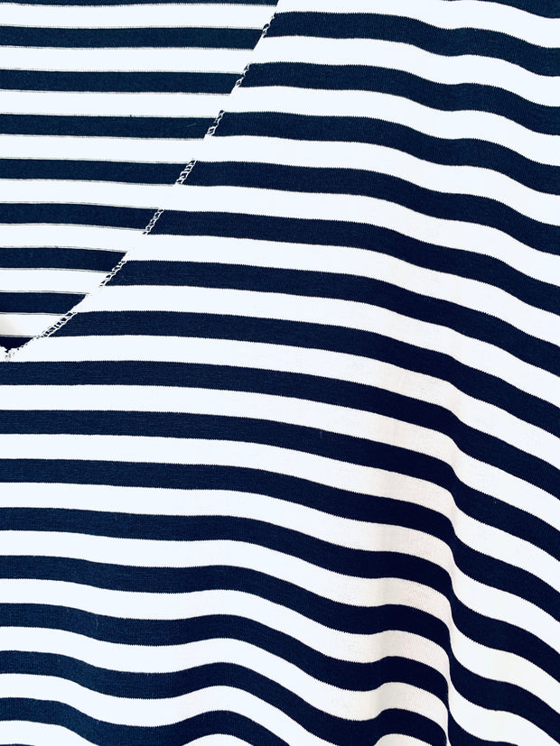 Short Sleeve Stripe T-Shirt - Navy