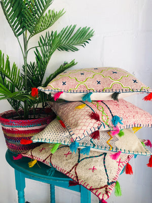 Zig Zag Tassled Cushion