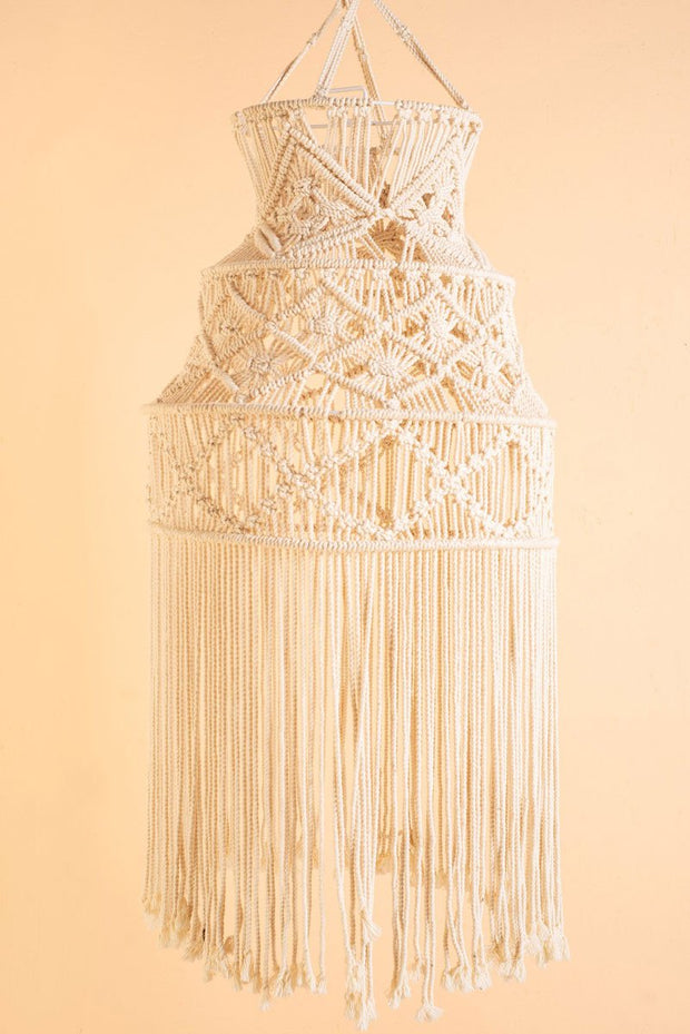 Ian Snow Macrame Ceiling Lampshade