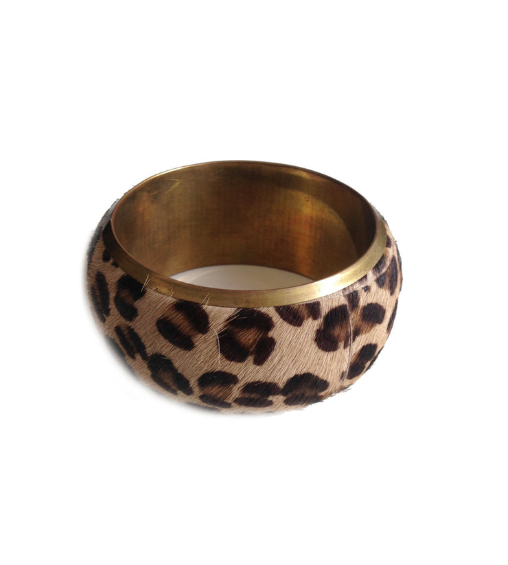 Wide Bangle Leopard